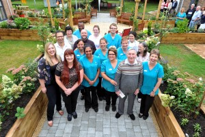 Wentworth Court Summer fete and opening of the new dementia-friendly garden by Cheltenham MP Alex Chalk.  Staff and reisdents